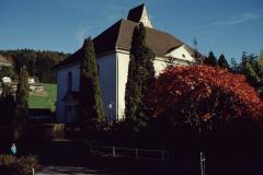 Ref. Kirche von Haus Schaufelberger aus
