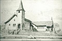 Bruder Klausen-Kirche, Pläne von A. Gaudy, nur Teil rechts realisiert