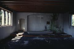 Bruder Klaus Kapelle Innenraum, während Abbruch