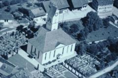 Luftaufn. Swissair Detail Kirche