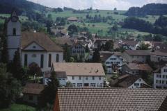 Neues Kirchgemeindehaus vom Kehrplatz Lettenbergstr
