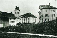 Kirche und Kaufhaus Wegmüller