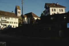Kirche und Kaufhaus, Sattlerei Wälty