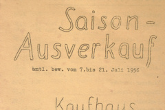 Kaufhaus Wegmüller Saisonausverkauf