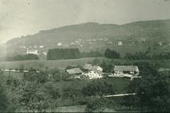 Schürli mit altem Schiessstand (bis 1916, neuer Schiessstand ab 1918)