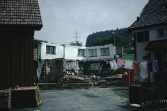 Schürli, Haus Peter, Abbruch des Hausteils dorfwärts