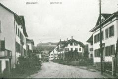 Dorfpartie, Blick gegen Dorfmitte mit Haus Raths (Post 1861 - 1869)