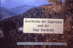 Diaschau 1, Geschichte der Sägereien & Sagi Stockrüti