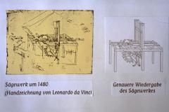 Diaschau 1, Sägewerk von 1400 Handzeichnung Leonardo da Vinci