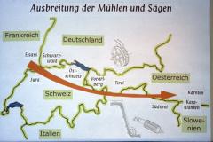 Diaschau 1, Ausbreitung der Mühlen & Sägen