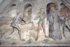 Diaschau 1, Wiesendangen, Freske 15. Jh. Breitaxt
