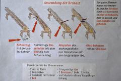 Diaschau 1, Anwendung der Breitaxt