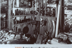 Diaschau 1, 1920 Betriebsaufnahme Wagnerei