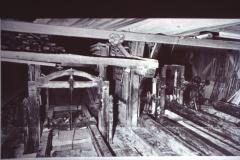 Diaschau 1, durch Wasserkraft betriebene Einfachgattersäge