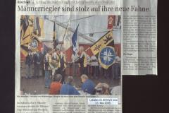 ZO ,Männerriegler sind stolz auf ihre neue Fahne' Fahnenweihe in Adetswil