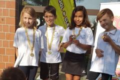 Motivierte RZO Kidsliga3 TN in Baar (Mia Zahner JG2010, Emanuel Kämpf JG 2010, Jessica Andri JG2008, Ian Zahner JG2008)