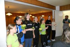 Trainingslager Flumserberg 2012, Dank für Köchin Elisabeth Keller