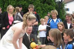 Spalier zur Hochzeitsfeier von Petra Schaufelberger