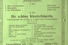 Rest. Frohberg, Konzert + Theater Männerchor Adentschweil