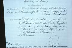 Einladung durch AGZ zu einer Sitzung des Initiativkomitees Transversalbahn