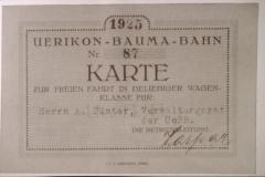 UeBB. Privileg der Verwaltungsräte. Eine Freukarte