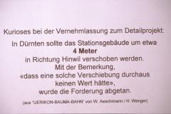 UeBB. Projekt Dürnten will Station um 4cm verschieben