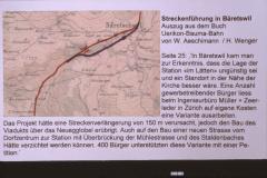 UeBB. Projekt für Streckenführung in Bäretswil, 150m länger, kein Neuegg Viadukt