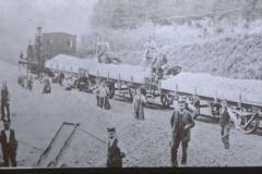 UeBB. Bahnbau mit Schotterzug, Rollmaterial der Tösstalbahn