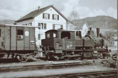 UeBB Ed 3-4 49 Reservelok + Post- und Gepäckwagen in Hinwil