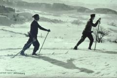 Skifahren auf dem Jakobsweg, Ausblick Rtg Wappenswil