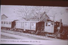 UeBB. Ausfahrt in Uerikon mit Glaskasten Ed 2-2 Nr. 23