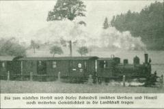 UeBB. Zeitungsausschnitt Zug mit Lok Nr. 6