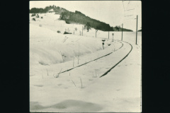 Bei der Station Neuthal im Winter