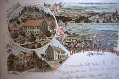 Gruss von Frohberg-Rosinliberg, Adentswril, Schulhaus, Handlungs Wilhelm Graf