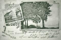 Postkarte, Gruss vom Rosinliberg