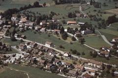 Luftaufnahme Adetswilerstr, Stapfeten, Primarschulhaus ca 1986