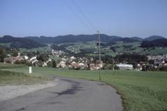 Blick von der Kiessgrube Rtg Dorf August 1989