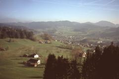 Blick vom Ebnersberg auf Bürgweiden, Weid + Bäretswil