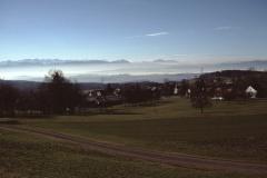 Hof Siegenthaler. Blick auf Adetswil - Alpen