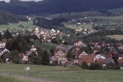 Kiesgrube. Blick Ritg. Adetswil - Aemet