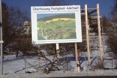 Adetswilerstr - Bautafel ,Überbauung Postgässli'