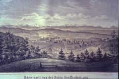 Bäretswil von der Ruine Greifenberg aus