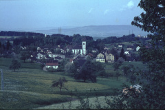 Blick auf Hüttenacker + Dorf