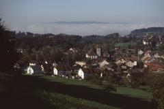 Blick von der Steig auf Hüttenacker + Dorf