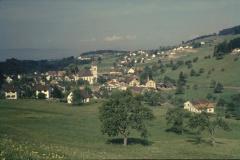 Blick aus Rtg Steigstr - Hüttenacker - Kirche, Aemethang