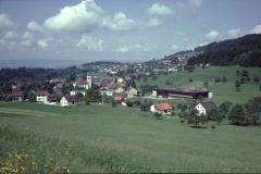 Blick von der Steigstr Rtg Lettenberg Hüttenacker Kirche