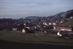 Blick aus Rtg Steigstr, Hüttenacker, Kirche, Aemethang