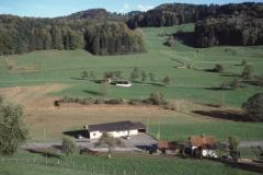 Ausblick vom Lettenberg auf Schützenhaus + Steig (Skilift)