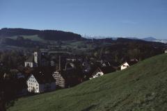 Blick vom Lettenberg auf Kirche, Schulhaus, Hinterberg