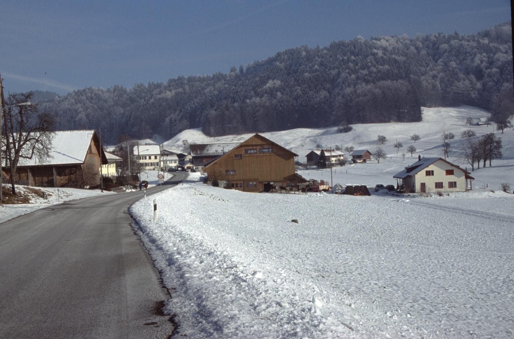 Böhl, Blick Rtg Dörfchen (im Winter)